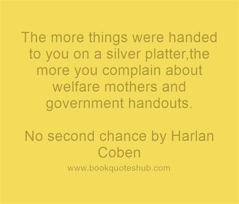 complaining about government handouts