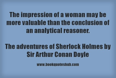 impression of a woman quote