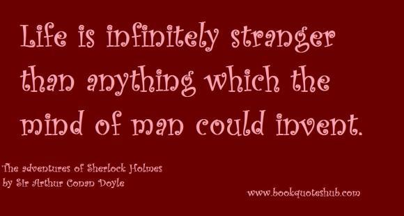 Strangeness of life quote image