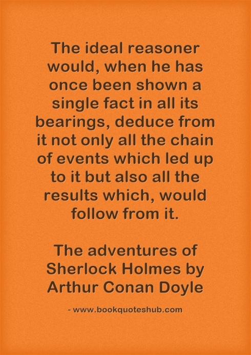 Ideal reasoner quote