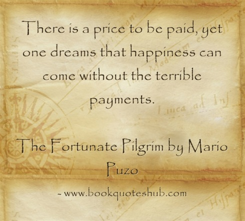 Happiness has a price quote image