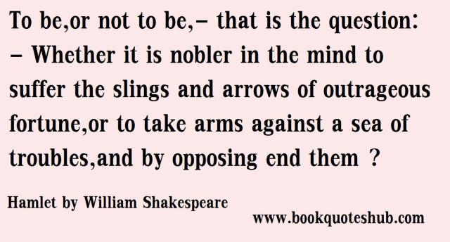 to be or not to be | Book Quotes Hub
