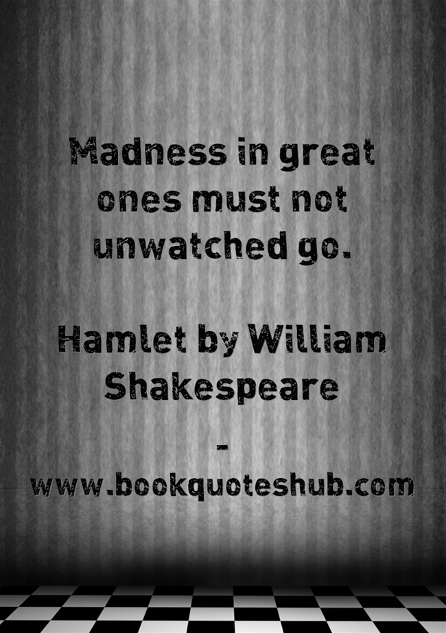 an analysis of hamlets madness in the work of william shakespeare