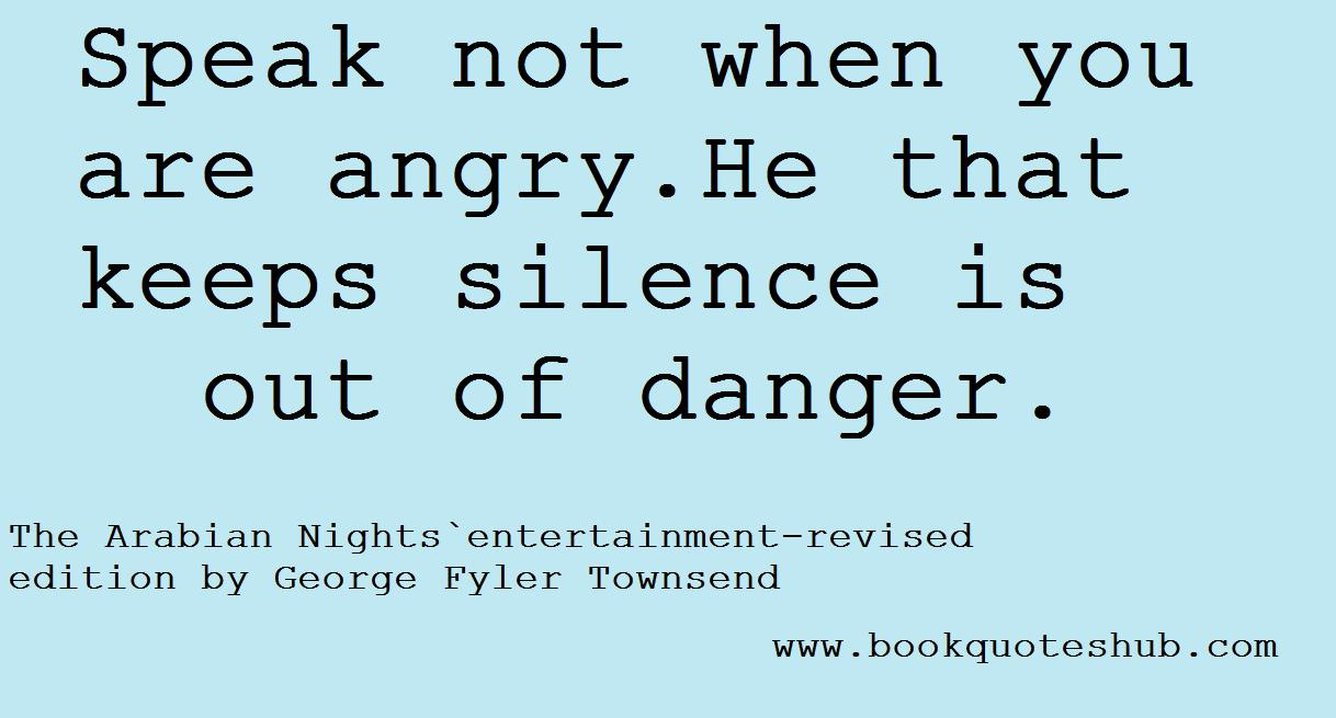 don`t speak when angry | Book Quotes Hub