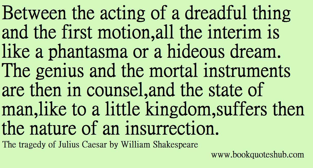Tragedy of Julius Caesar Quotes