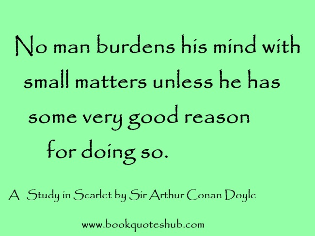 burdening mind with small matters quote image
