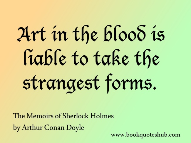 Art in the blood quote image