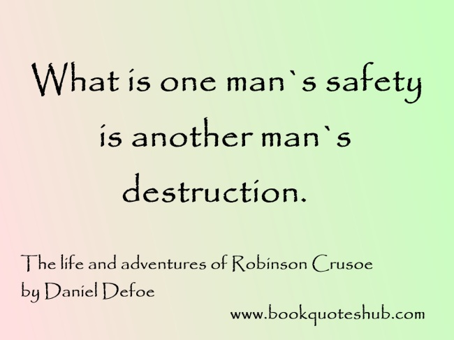Safety of a man quote