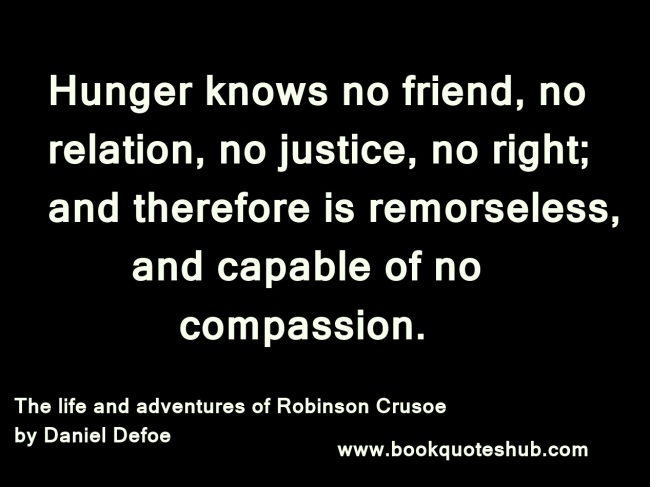 Quote image about hunger