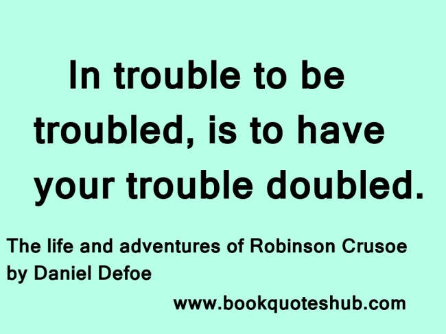 trouble quote image