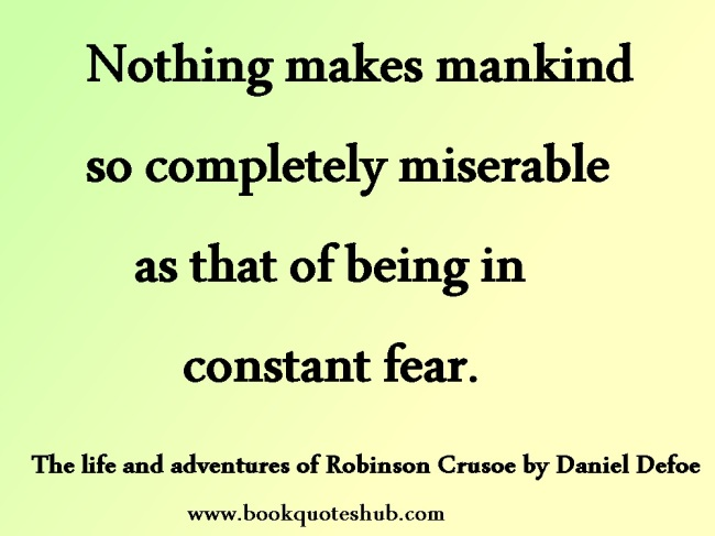 Being in constant fear quote image