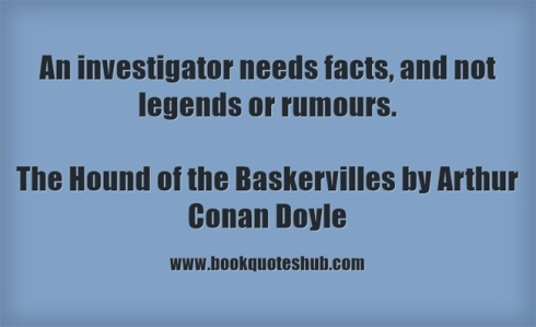 Quote about investigators
