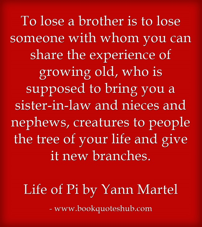 quote about losing brother book quotes hub