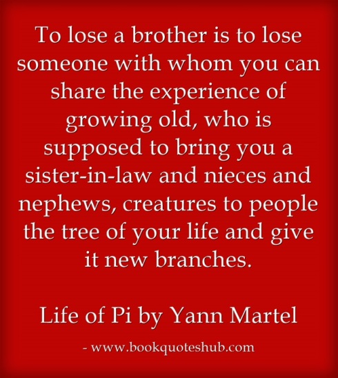 Losing a brother quote