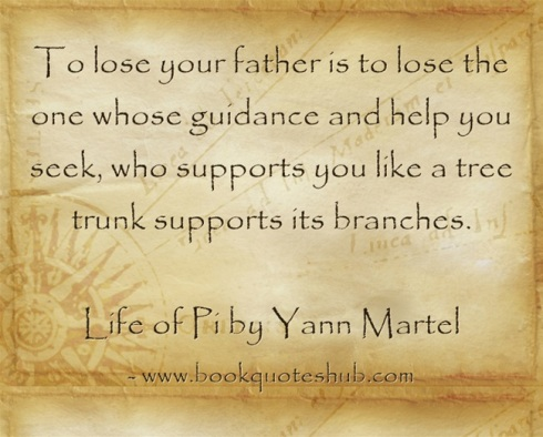 Quote about losing father