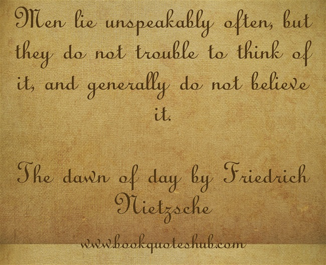 Quote about lying | Book Quotes Hub