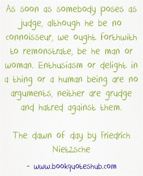 quote about posing as judge